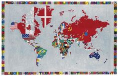 """Mappa"" by Italian artist Alighiero Boetti, whose work will be part of major exhibition at Tate Modern (Feb-May 2012) and then at MOMA (from May 2012)"