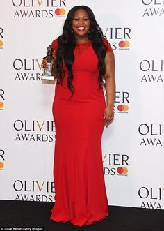 Glee Actress Amber Riley Stuns At Olivier Awards Show - Photos Curvy Celebrities, Celebs, Black Is Beautiful, Gorgeous Women, Amber Riley, Black Actresses, Blue Gown, Plus Size Designers, Best Actress