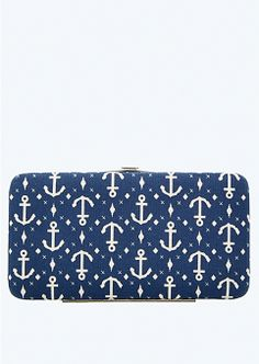 Anchor Diamond Hinged Wallet | Wallets & Wristlets | rue21