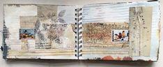 Mandy Patullo / Thread and Thrift:  Stamp Album #sketchbook