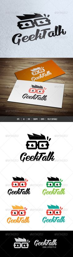 Geek Talk	 Logo Design Template Vector #logotype Download it here: http://graphicriver.net/item/geek-talk/6544887?s_rank=449?ref=nexion