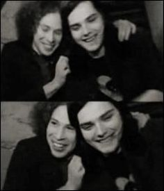 Gerard & Ray! Cute best friends who saved lives. One was extremely loved on by fans, while the other headbaged his heart out as he played guitar. We love you Ray.
