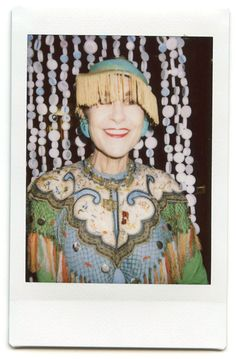 Tziporah Salamon polaroid portrait by Maripol