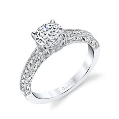 style s1363 designer engraved solitaire diamond engagement ring elegantly designed this solitaire engagement beautiful engagement - Most Beautiful Wedding Rings