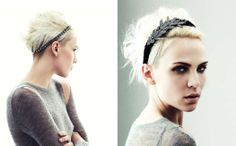 short cut with cool headband
