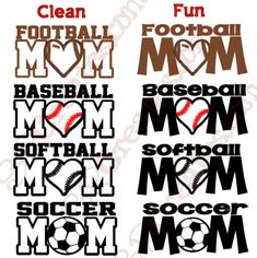 Sports Mom Car Decal  Football Baseball Soccer by SRCreates, $8.00