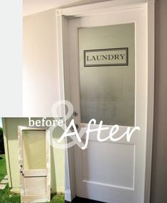 I'd be visiting my laundry room all the time if I had this door!