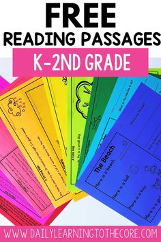 Do you need some new reading passages to use with your Kindergarten, 1st or 2nd Grade students? Click here to grab 10 free reading passages!