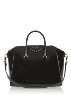 c6c1e085e5cd Givenchy - Medium Antigona bag in shiny black leather