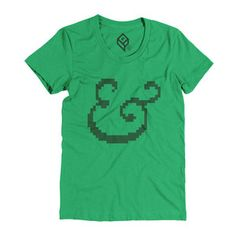 Ampersand Tee Womens Green, $21, now featured on Fab.