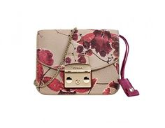 Minibag in pelle a stampa floreale