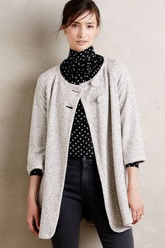 Paper Crown Speckled Swing Coat | What Team LC Is Wearing