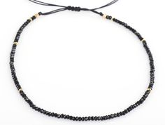 Black Spinel Choker or Necklace Gemstone Choker Adjustable