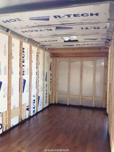 Enclosed trailer camper 70