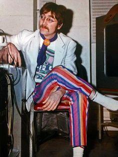 John Lennon - Digging the pants