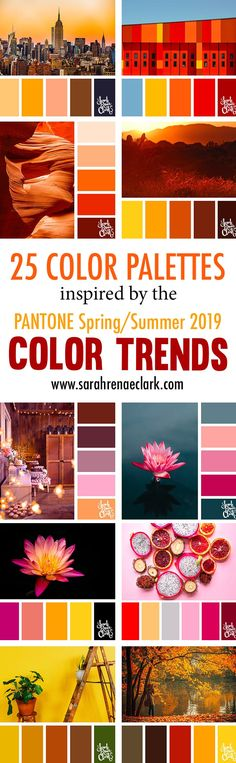 25 Color Palettes Inspired by Pantone Spring/Summer 2019 Color Trends Color Trends, Color Combos, Color Schemes, Coloring Tips, Adult Coloring, Neutral Colour Palette, Colour Board, Copics, Color Of The Year