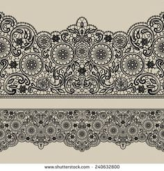 Vector lace ribbon. Seamless background