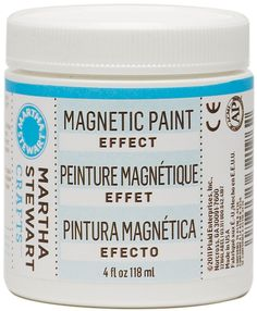 Martha Stewart Magnetic Effect Paint   Just imagine all of the craft projects you can create with this stuff.