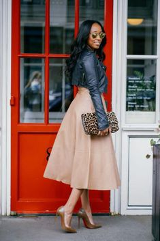 Shiona Turini in Christian Louboutin nude pump collection that features nude pumps for ALL skin tones.