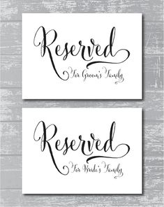 INSTANT DOWNLOAD  Swash Reserved for Family by CreativePapier, $8.00