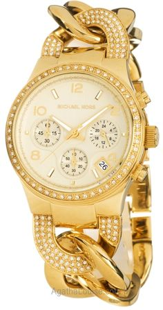 Michael Kors gold chain-link bracelet watch...!!!