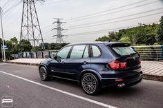 Bmw Car Models, Bmw X5 E70, Aftermarket Wheels, Cars Series, Bmw X3, Custom Wheels, Car Makes, Badass, Blue