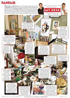 "Fanfair ""My Desk"" of Trey Parker and Matt Stone."