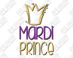 Mardi Prince Cut File in SVG, EPS, DXF, JPEG, and PNG