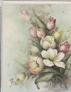 Tulips by Sonie Ames China Painting Study 1973