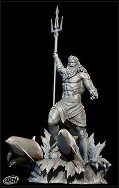 Angel Statues Design - Roman Statues Sculpture - Buddha Statues Modern - Birth Of Venus Statues Ancient Greek Sculpture, Greek Statues, Angel Statues, Buddha Statues, Poseidon Tattoo, Greek And Roman Mythology, Greek Gods, Sculpture Art, Sculptures