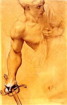 """wasbella102: """" Angel, a study for The Lost Paradise. Alexandre Cabanel """""""