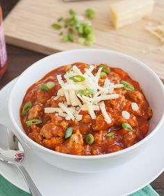 Buffalo Chicken Chili | Tracey's Culinary Adventures- Rob would love this!!