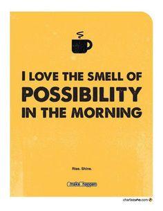 Nós amamos o perfume das possibilidades nas manhãs! :) #produtividade #planejamento #metas