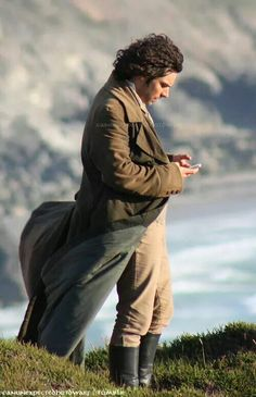 On the set from Poldark