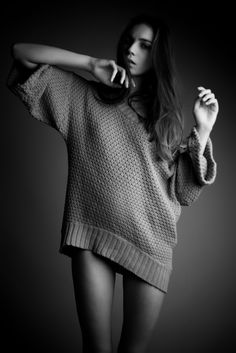 Probably my favorite thing a girl can wear is an oversized sweater and nothing else! Mmm, so nice.