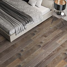 Elegant distressing, rich texture, knots, and deep variations in tonality define the exemplary flooring of the Chateau Collection. Celebrating the natural character of hardwood, the Chateau Collection is available in both Rustic Grade and Reclaimed varieties. Featuring a true artisanal hand-finish that embodies the aged, rustic sensibilities of a storied French manor, the Reclaimed Series features three-hundred-year-old European White Oak sourced from rare historic chateaus, farm houses… Farm Houses, Chateaus, White Oak, Old World, Plank, Worship, Knots, Hardwood, Public