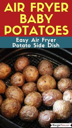 air fryer recipes Air Fryer Truly Crispy Baby Potatoes cooked without any precooking in the air fryer. If you love baby potatoes then you will love air fryer baby potatoes. Air Fryer Recipes Breakfast, Air Fryer Dinner Recipes, Air Fryer Oven Recipes, Air Fryer Recipes Potatoes, Recipes Dinner, Baby Potato Recipes, Cooks Air Fryer, Air Fryer Review, Air Frier Recipes