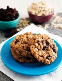 these cookies are soft and chewy, flavored with molasses, cinnamon, and plump, juicy raisins - the best oatmeal raisin cookies ever.