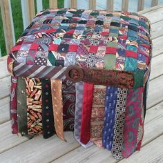 foot stool made from ties - Google Search