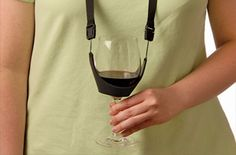 The Wine Necklace is a funny and unique gift for the wine lover in your life! It allows you to fully use both hands as your wine sits at your neck