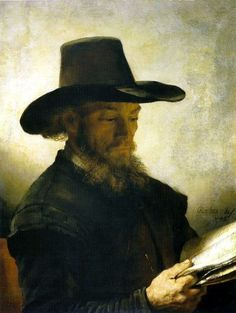 Rembrandt (?) and workshop, Portrait of a Man Reading, c. 1648, The Clark Institute, Williamstown. Mass.