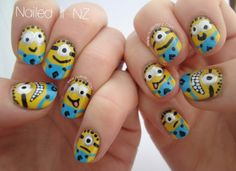 Nailed It NZ: Despicable Me nail art & tutorial! http://www.naileditnz.com/2013/07/despicable-me-nail-art-tutorial.html