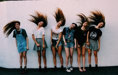 Group hair flip