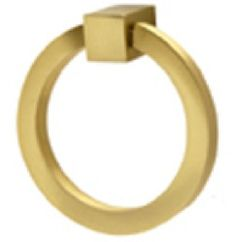 satin brass ring pull - nice way to spruce up more traditional cabinets.  A nice on at thenewtraditionalist.com