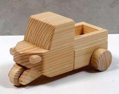 木のおもちゃ はたらく車・三輪トラック