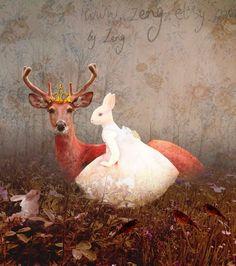 A Rabbit Girl and the Deer Queen