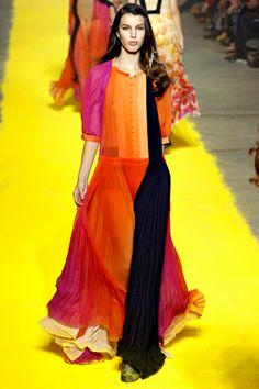 Sonia Rykiel Spring 2012 Ready-to-Wear Fashion Show - Kate King (Elite) Look Fashion, Daily Fashion, Runway Fashion, High Fashion, Fashion Show, Luxury Fashion, Fashion Design, Fashion Trends, Paris Fashion
