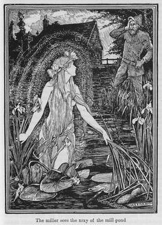 Henry Justice Ford was a prolific and successful artist and illustrator, active from 1886 through to the late 1920s. Pictured: 'the miller sees the nixy of the mill-pond'
