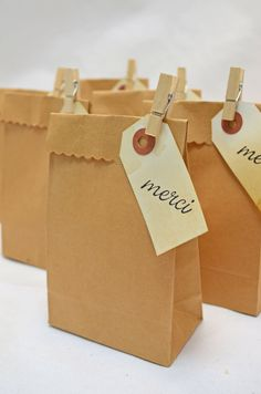 cute favor bags with another saying