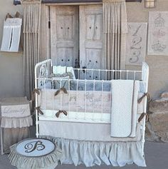 Farmer chic! Farmhouse French Melle Nursery Collection by Persnickety Baby Bedding